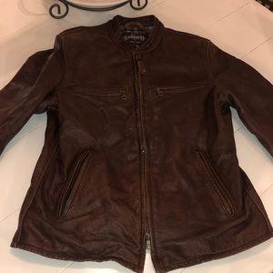 Men's Schott NYC leather jacket